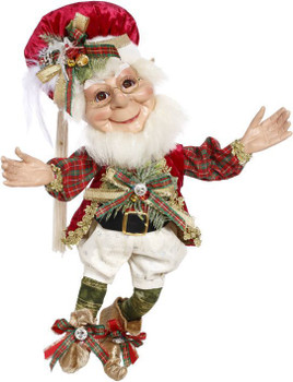 CHRISTMAS DECORATING ELF - MEDIUM, 17 INCHES