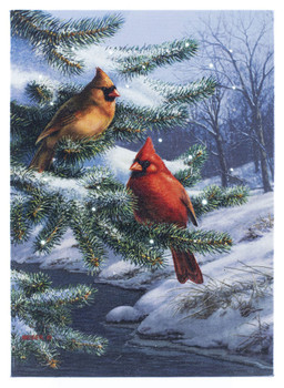 CARDINALS ON EVERGREEN - OSW197312