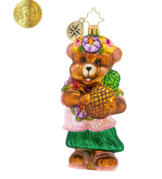 Take a deep breath, slow down! Now you're on island time. This teddy is soaking it all in, making the most of the tropical vibes.
