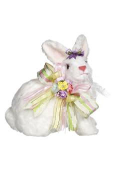 Sitting White Rabbit by Mark Roberts