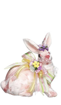 Sitting Pink Rabbit by Mark Roberts