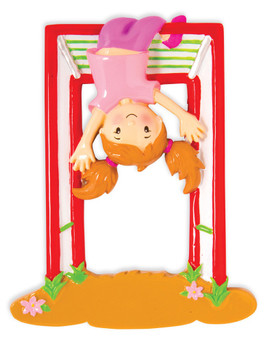 GIRL ON JUNGLE GYM ORN - OR1582-G