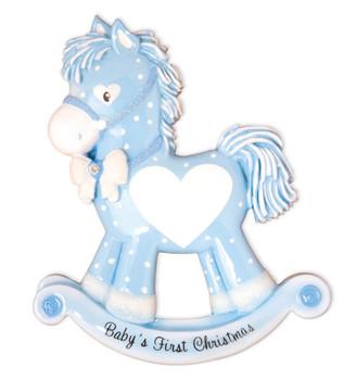BLUE ROCKING HORSE - OR1573-B