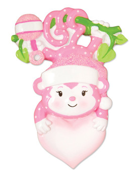BABY GIRL SNOWMAN ORN - OR1576-P