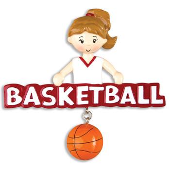 BASKETBALL GIRL ORN - OR1243-G