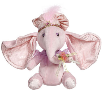 Sitting elephant pink small by Mark Roberts
