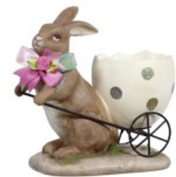Rabbit with Egg Cart by Mark Roberts
