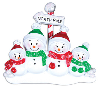 4 SNOWMAN FAMILY - OR967-4