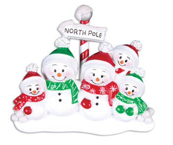 5 SNOWMAN FAMILY - OR967-5