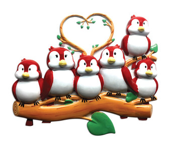 6 BIRDS ORN