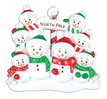 8 SNOWMAN FAMILY - OR967-8