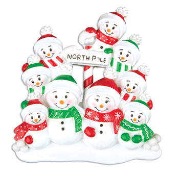9 SNOWMAN FAMILY - OR967-9