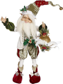 North Pole 2 Turtle Doves Elf Large by Mark Roberts