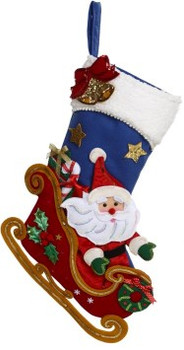 Santa Sleigh Stocking by Mark Roberts