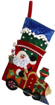 Santa Train Stocking by Mark Roberts