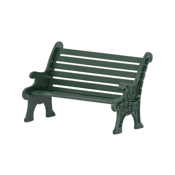 VILLAGE WROUGHT IRON PARK BENCH