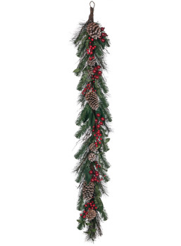 PINE/BERRY TWIG GARLAND