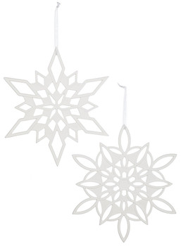OVAL SNOWFLAKE ORN