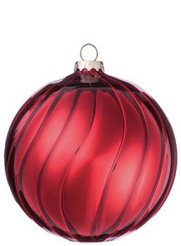 RED SWIRL BALL ORN