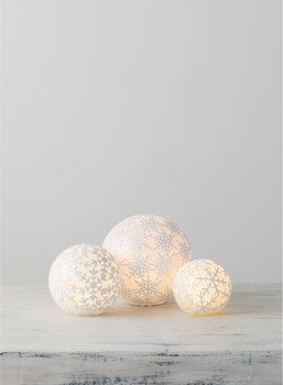 SNOWBALL W/LED LIGHT