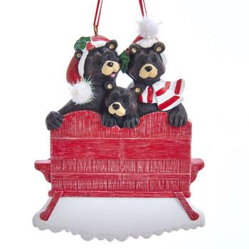 3 BLACK BEAR RED CHAIR FAM