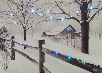 LIGHTED FENCE WINTER