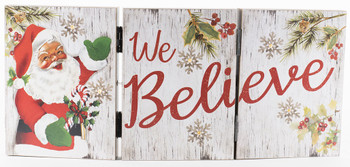 WE BELIEVE SANTA