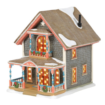 The streets of the Gingerbread Cottages of Oak Bluffs on Martha's Vineyard have been called the most charming area in all New England. Shingle style siding sets off the bright candy colors of the ornate trim, each cottage different than the others.