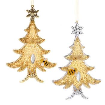 GOLD XMAS TREE ORN