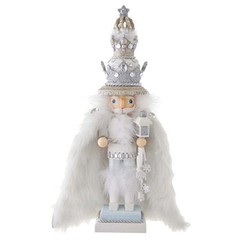 WHITE FUR KING NUTCRACKER
