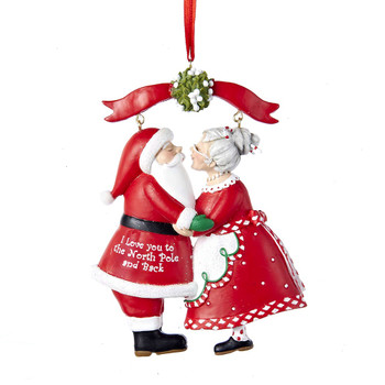 MR & MRS CLAUS UNDER MISTLETOE
