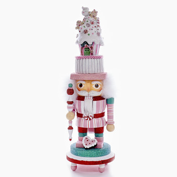 NUTCRACKER W/PINK CANDY HOUSE