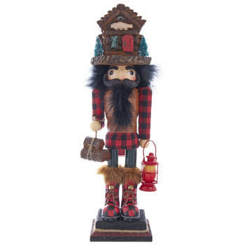 LODGE NUTCRACKER WITH CABIN HAT