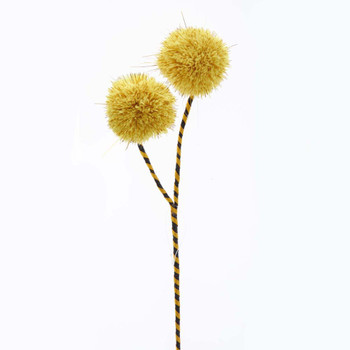 YELLOW POMPOM PICK
