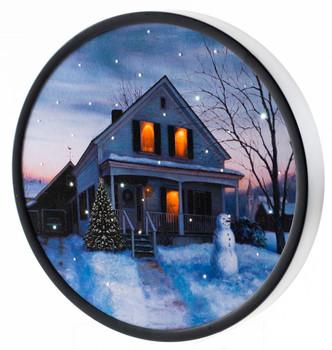 ROUND HOUSE W/ SNOWMAN - OSW187963