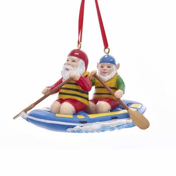 SANTA & ELF ON WATER RAFT