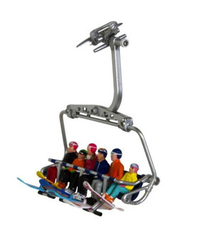 FIGURES SITTING W/ SNOWBOARDS - 6 PIECES