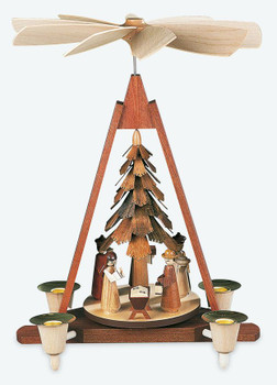 Beautiful handcrafted pyramids from Mueller, in the Erzgebirge region of German. Pyramid Nativity Scene