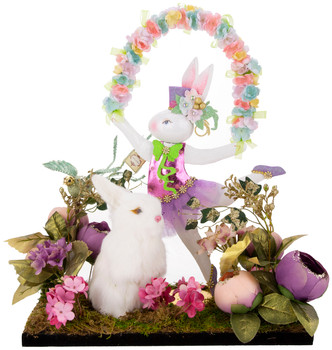SPRING DANCE GIRL RABBIT ARRANGEMENT - AI-14360