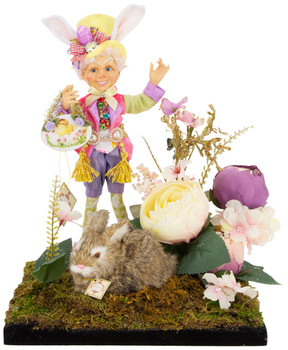 SPRING ELFIN W/RABBIT ARRANGEMENT,SM - AI-14352