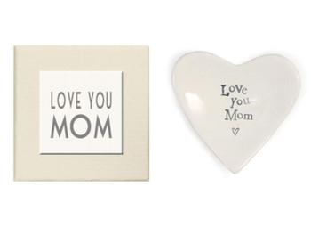 LOVE YOU MOM HEART DISH-E2085US
