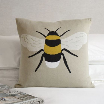 KNITTED STATEMENT CUSHION-BEES - KSC3650