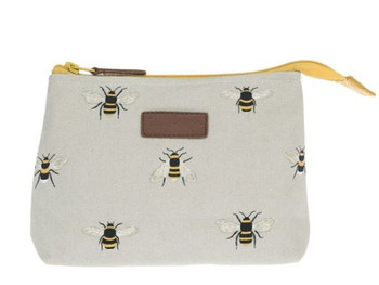 CANVAS WASH BAG-LG-BEES-ALL36515