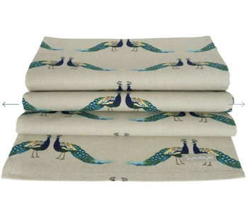 TABLE RUNNER-PEACOCKS-ALL64810