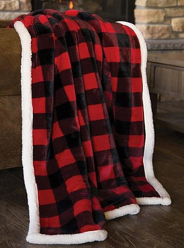 LUMBERJACK PLAID PLUSH THROW-JP527