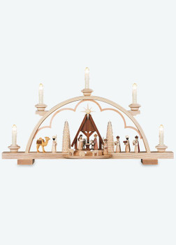 Candle Arch Nativity Scene with Manger by Mueller