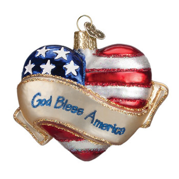 GOD BLESS AMERICA HEART - 30037