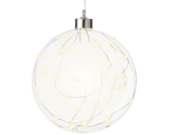 LARGE GLASS BALL WITH LED