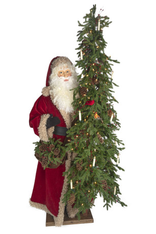 Old World Holiday Life Size Santa from Ditz