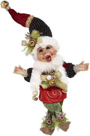 SLEIGH BELLS ELF - SMALL, 11 INCHES